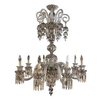 Baccarat Style Bohemian Eight-Light Platinum Chandelier, 21st Century For Sale