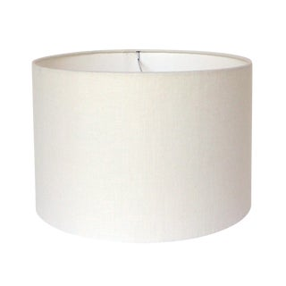 Large Off-White Linen Custom Drum lampshade For Sale