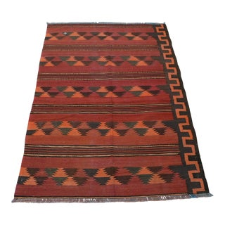 Tribal Handwoven Maldari Afghan Kilim For Sale
