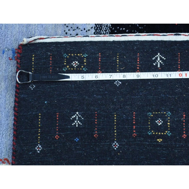 Hand-Knotted Wool Folk Art Gabbeh Rug- 8′3″ × 10′1″ For Sale - Image 12 of 13
