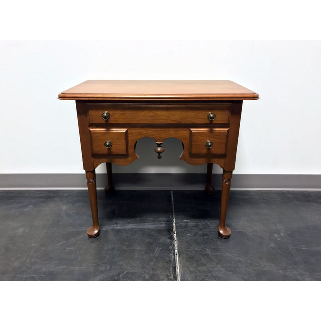 Pennsylvania House Cherry Queen Anne Diminutive Lowboy Chest Nightstand For Sale - Image 11 of 11