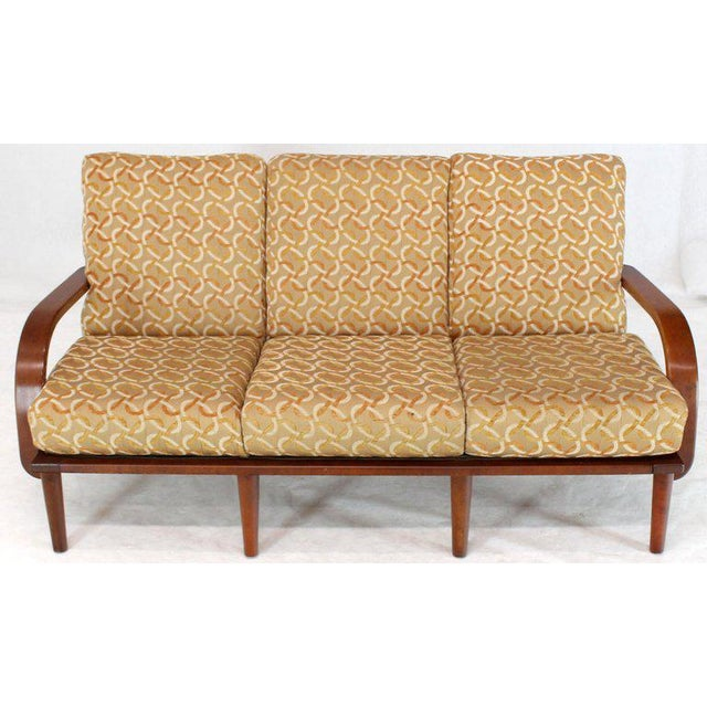 Conant Ball Russel Right Solid Bent Maple Sofa For Sale - Image 13 of 13