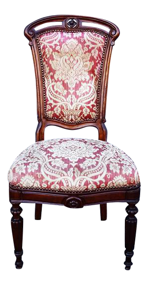 Antique Louis XVI French Baroque Style Accent Chair