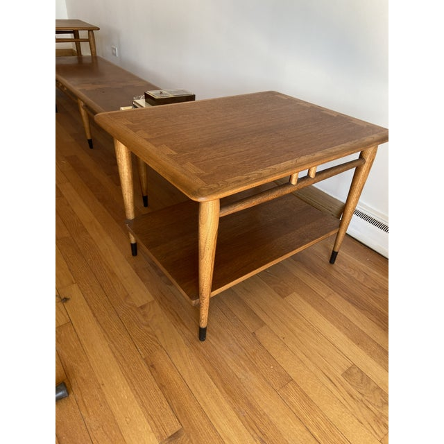 Andre Bus for Lane Furniture design. Midcentury designed made of walnut, rounded tabletop edges, and tapered legs. Great...