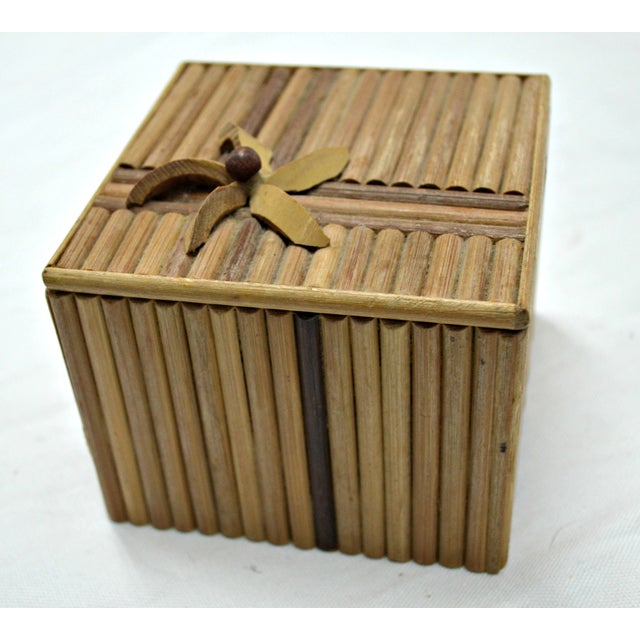 Rustic Wooden Stick Cigarette Box - Image 8 of 9
