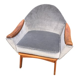 Vintage Mid Century Adrian Pearsall 'Hers' Lounge Chair For Sale