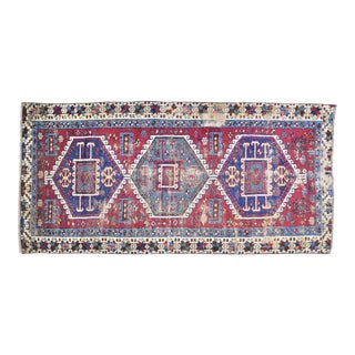"""Vintage Turkish Anatolian Hand Knotted Organic Wool Fine Weave Rug,3'6""""x7'5"""" For Sale"""