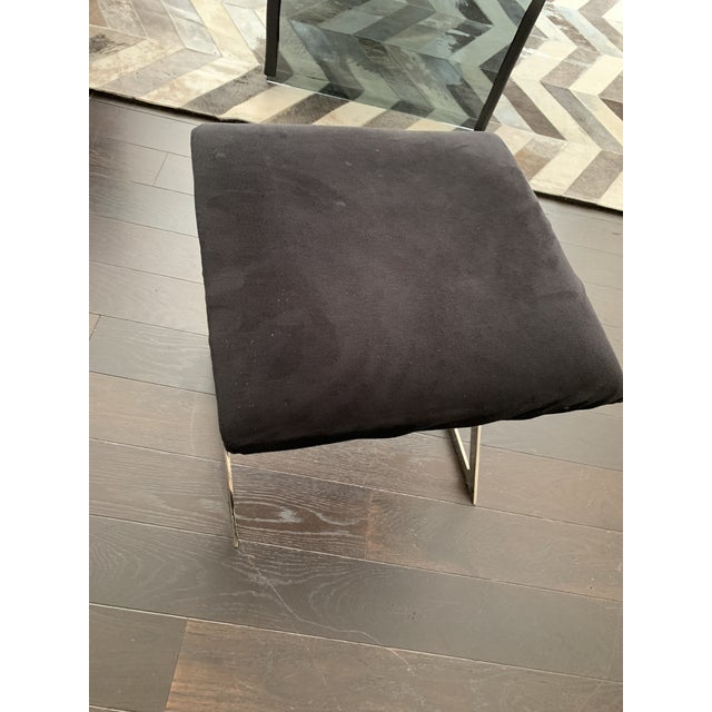 Made Goods Microsuede Chrome X Bench Stools - Set of 6 For Sale - Image 11 of 12