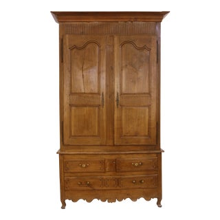 Louis XV Walnut Armoire in Walnut For Sale