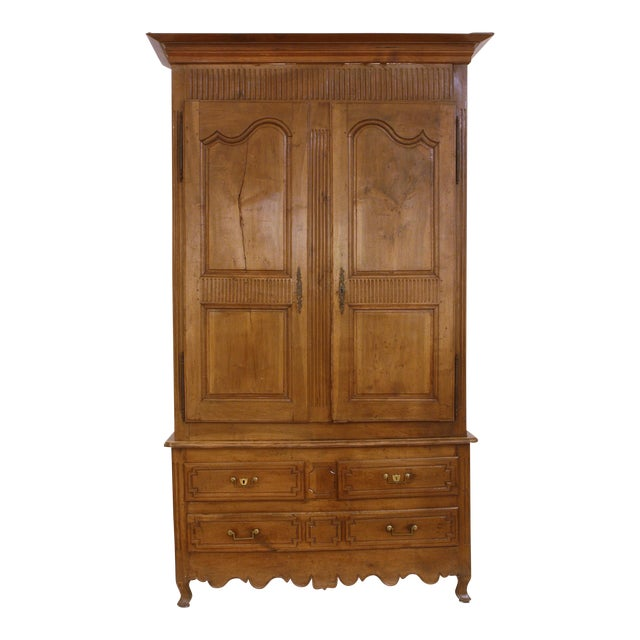 Louis XV Walnut Armoire in Walnut - Image 1 of 9