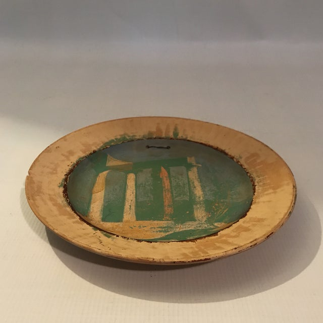 Painted Roman Temple Plate For Sale - Image 4 of 7