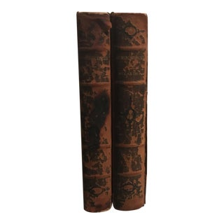 """1900 Leather """"Reminiscences"""" 2 Volume Book For Sale"""