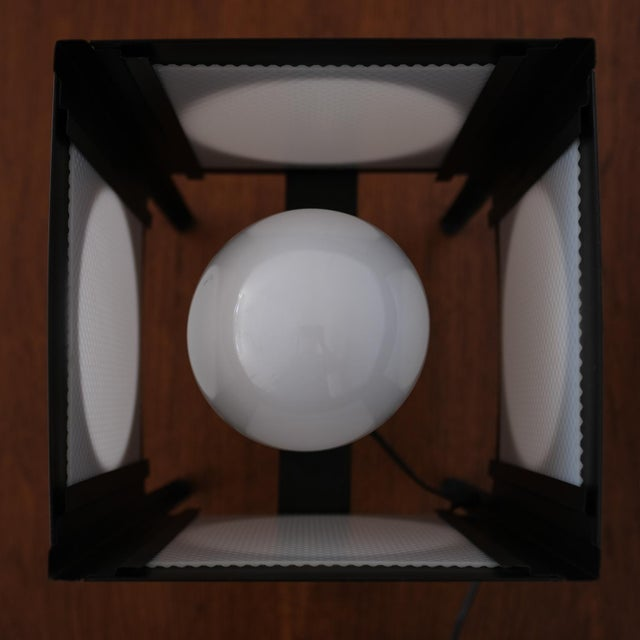 Metal Cube Lamp, 1960s For Sale In San Diego - Image 6 of 8