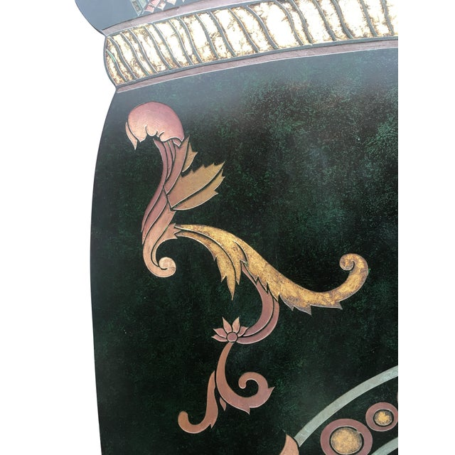 6 Foot Tall 1930s Hand Carved and Painted Art Deco Screen - Image 2 of 10