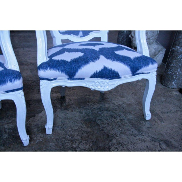 Early 20th Century Italian White Lacquered Armchairs For Sale - Image 5 of 9