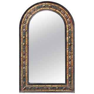 Moroccan Arched Metal Inlay Mirror For Sale