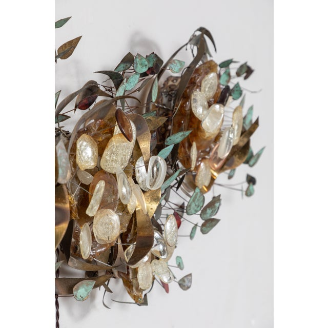 Metal Contemporary Recycled Glass Wall Light For Sale - Image 7 of 9
