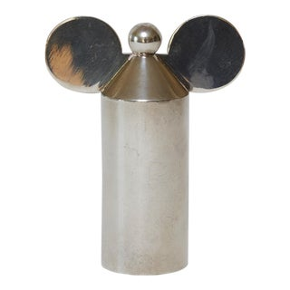 "1980s Hollywood Regency Swid Powell Silver-Plated ""Mickey"" Pepper Mill For Sale"