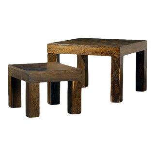 Two Rosewood Nesting Tables, Don Shoemaker - Pair For Sale