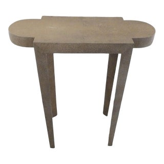 Contemporary John Lyle & Umbach Silvered Shagreen Turtle Cigarette Table For Sale