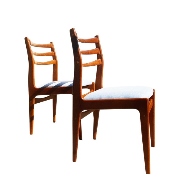 Danish Mid-Century Modern Teak Wood Dining Chair - A Pair - Image 1 of 8