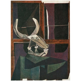"""1943 Picasso, Original """"Still Life With Skull of Ox"""" Period Lithograph For Sale"""