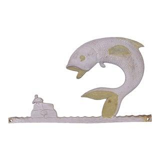 Fishing Motif Plaque For Sale