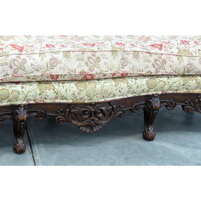 Traditional Carved Victorian Sofa For Sale - Image 3 of 9