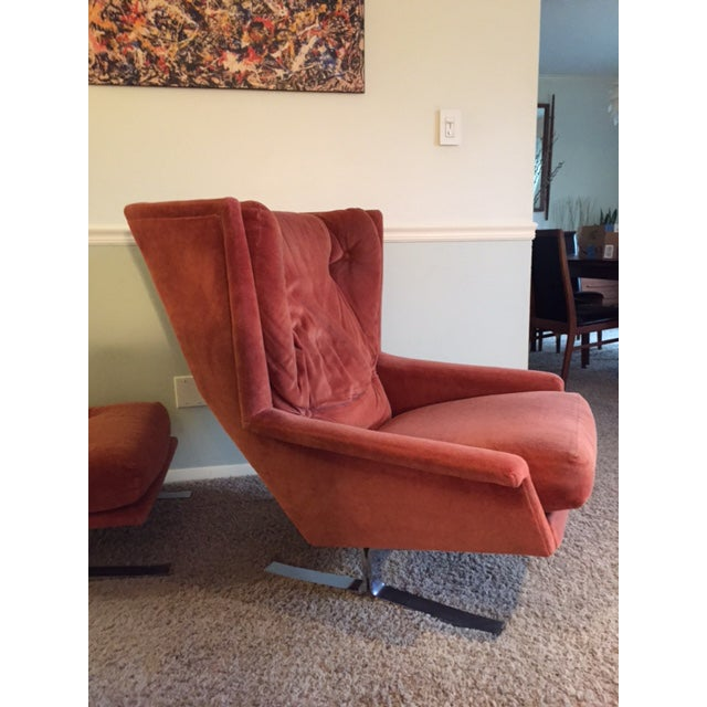 Wingback Chair With Ottoman by Adrian Pearsall - Image 4 of 8