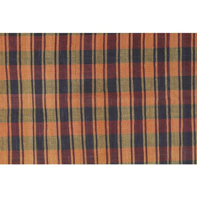 Islamic Vintage Turkish Striped Plaid Flatweave - 6′ × 8′5″ For Sale - Image 3 of 4