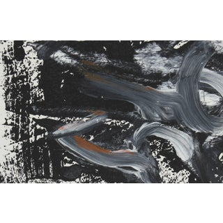 Gwen Stone Petite Black and White Monotype Abstract, Late 20th Century Preview