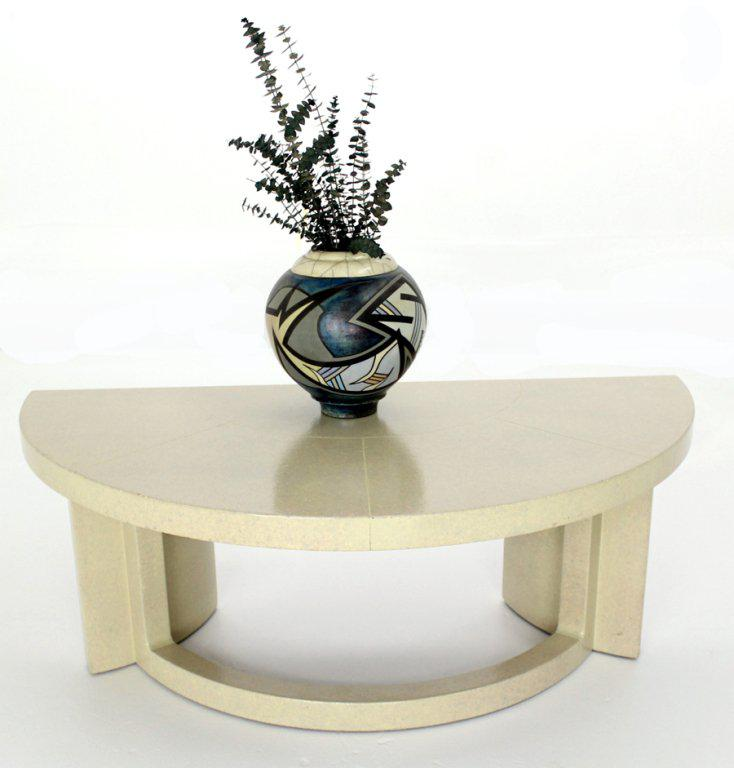 Paul Frankl Mid Century Modern Demilune Console Table   Image 3 Of 8