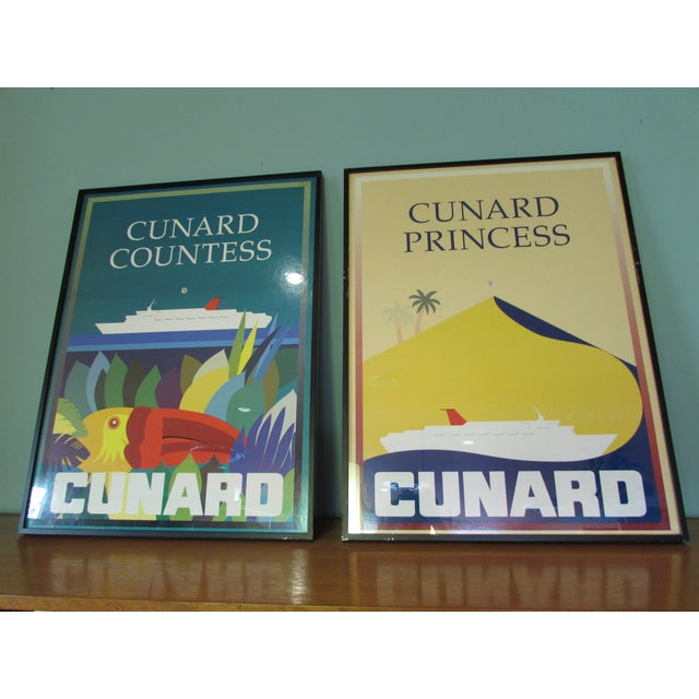 1983 Cunard Line Travel Posters - A Pair - Image 2 of 8