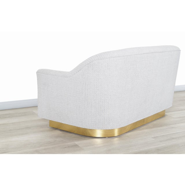 Vintage Brass Loveseat by Milo Baughman for Thayer Coggin For Sale - Image 9 of 12