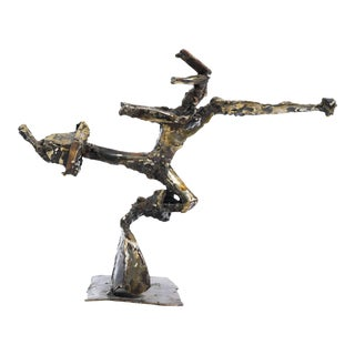 Spelter Abstract Figure Sculpture For Sale