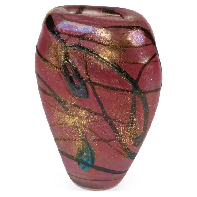 """Luzoro vase designed by Michele Luzoro. Signed """"Luzoro""""."""