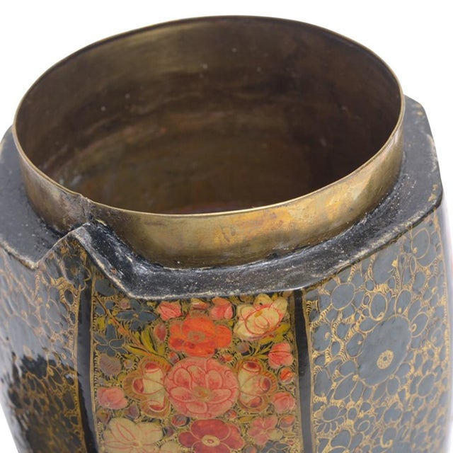 A delicious find, this lidded container was originally used to store dried tea leaves. Provement from Kashmir, it features...