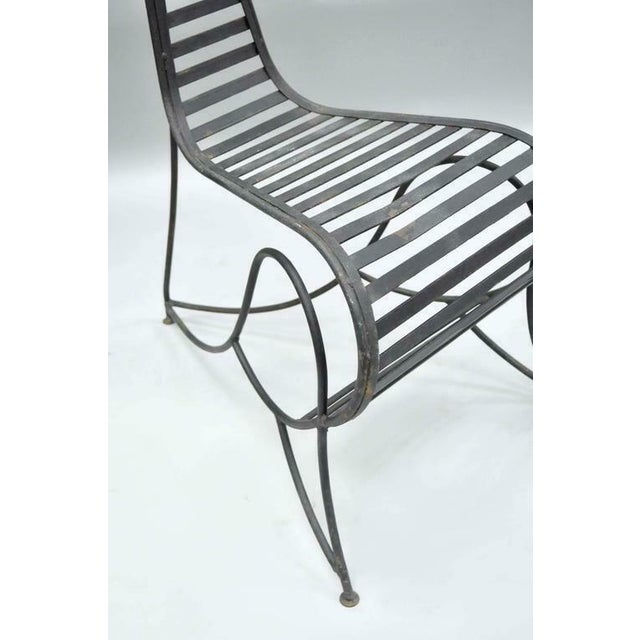 Metal Vintage Whimsical Steel Iron Spine Lounge Chairs After André Dubreuil - A Pair For Sale - Image 7 of 10