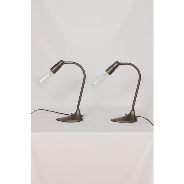 Machine Age Minimalist Desk Lamps - a Pair For Sale - Image 4 of 5