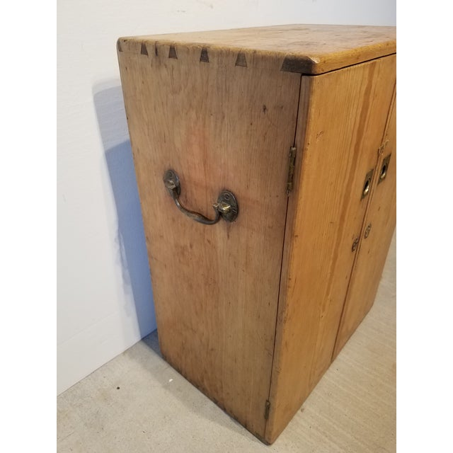 Antique Pine Small Cabinet/Chest - From Devon England - Circa 1880 Original iron and brass hardware. This cabinet could...