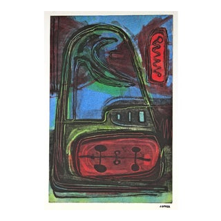 Modernist Abstract Lithograph, Circa 1950 For Sale