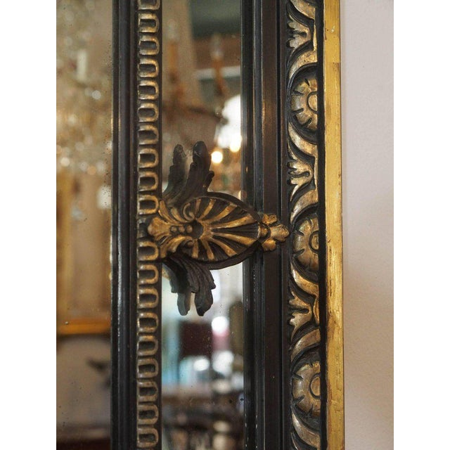 Antique French Giltwood & Ebonized Mirror For Sale In New Orleans - Image 6 of 7