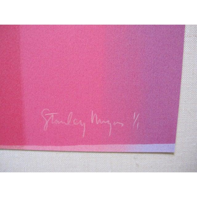 Abstract 1980s Stanley Migas Op-Art Monotype Screenprint For Sale - Image 3 of 5