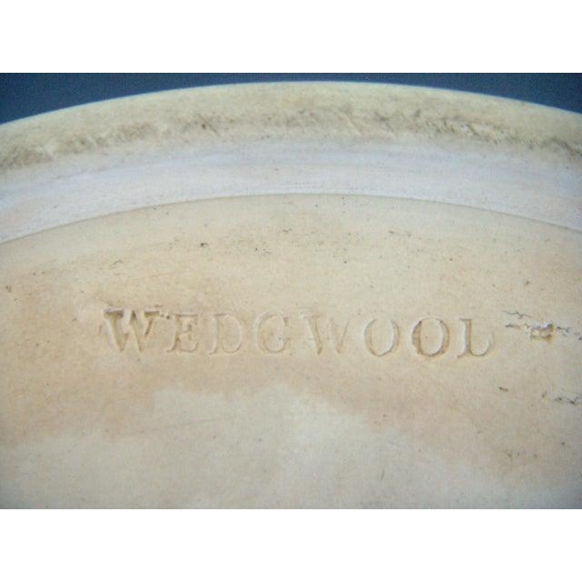 Wedgwood Jasper Ware Cobalt Blue White Salad Bowl - Image 4 of 6