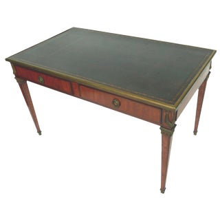 Late 19th Century Louis XVI Style Leather-Top Writing Desk For Sale