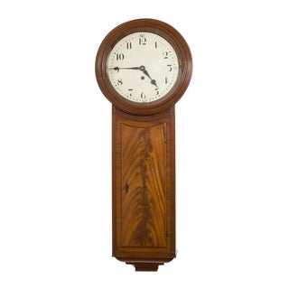 English Regency Mahogany Tavern Clock