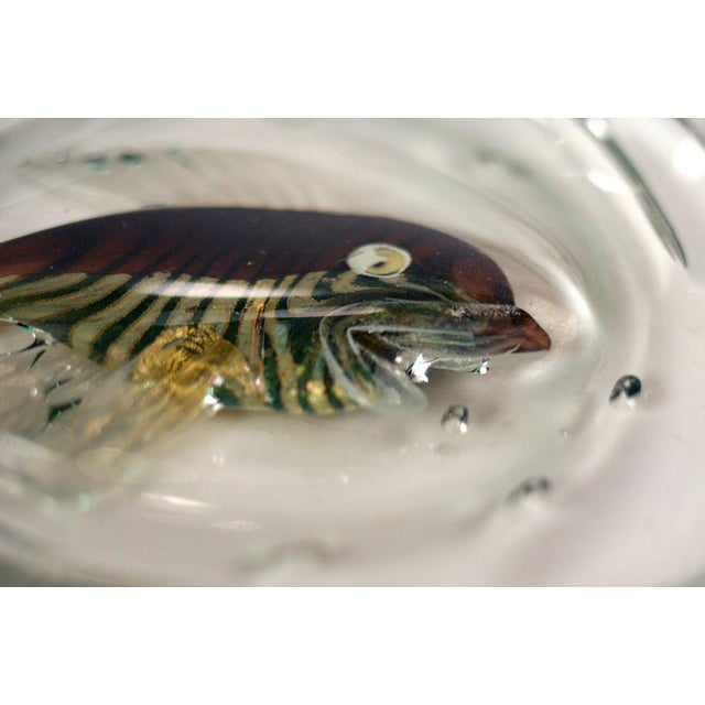 Green Italian Glass 'Fish Bowl' Dish For Sale - Image 8 of 8