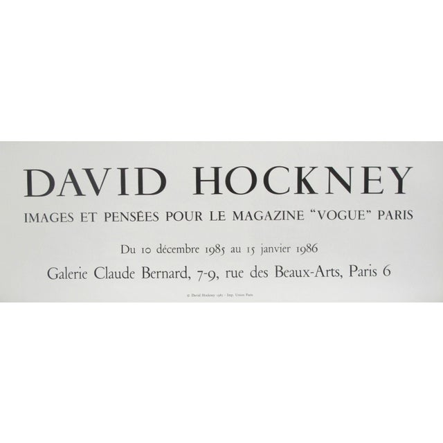 Date: 1985 Size: 20 x 32.5 inches Artist: Hockney, David This poster was created to promote an exhibition of David...