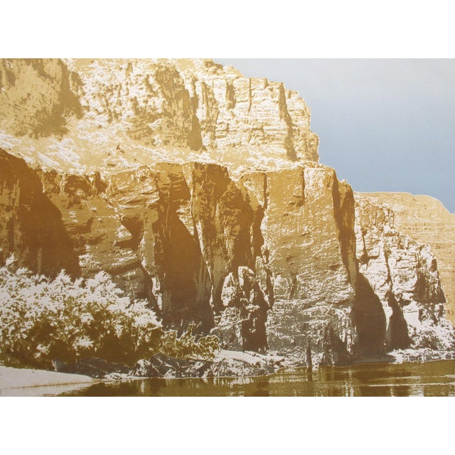 """Paula Crane """"Below Bright Angel"""" Signed & Numbered Art Etching of Canyons For Sale"""