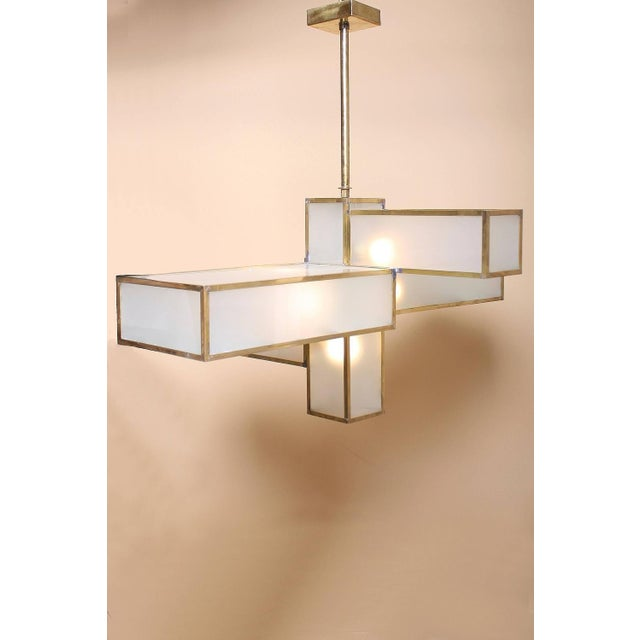 Geometric Chandelier Attributed to Jean Perzel For Sale - Image 5 of 10